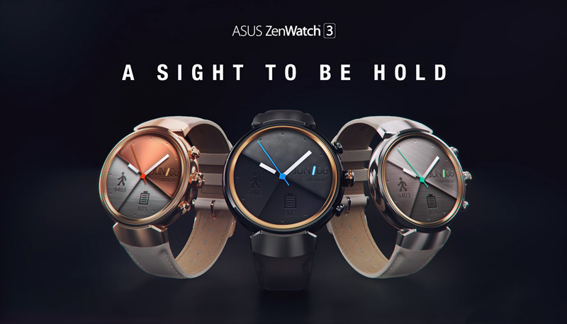 ASUSからZenWatch 3が発表。発売日は12月10日で価格は36,504円