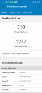 OPPO A5 2020 Geekbench 5